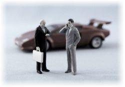 Bodyguard a podnikatel - dvě postavy