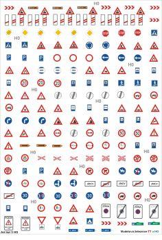 Set dopravních značek A4