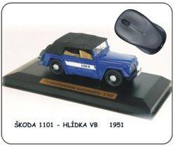 """Podložka pod myš - Škoda 1101 - hlídka VB   """"1951"""""""
